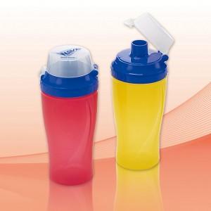 ウェーブ・ドリンクボトルミニ 300ml(日本製) ウェーブ・ドリンクボトルミニ レッド/120点入り(代引き不可)【送料無料】