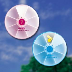 ピルケース ナナ・セパレートケース(日本製) ナナ・セパレートケース ピンク/180点入り(代引き不可)【S1】