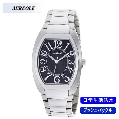 【AUREOLE】オレオール メンズ腕時計 SW-488M-1 アナログ表示 日常生活用防水 /10点入り(代引き不可)【送料無料】