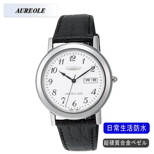 【AUREOLE】オレオール メンズ腕時計 SW-436M-3 アナログ表示 超硬質合金ベゼル 日常生活用防水 /1点入り(代引き不可)【送料無料】