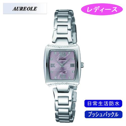 AUREOLE オレオール レディース腕時計 SW-498L-5 アナログ表示 日常生活用防水 5点入り 代引き不可 送料無料 バレンタインデー 修理保証 年越し 七五三