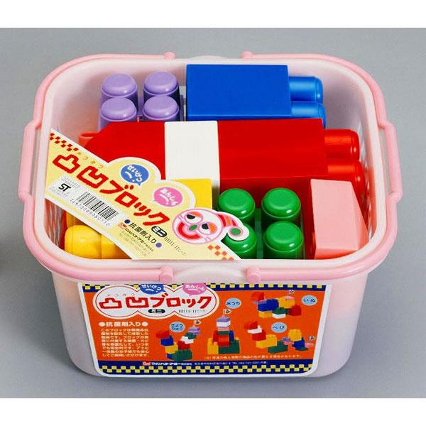 凸凹ブロックミニBB11 凸凹ブロックミニBB11(ブルー・ピンク)アソート/18点入り(代引き不可)【送料無料】
