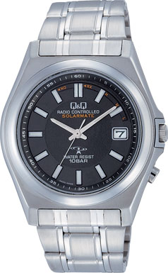 【CITIZEN】シチズン Q&Q ソーラー電源 アナログ電波 メンズ腕時計HG08-202 /5点入り(代引き不可)【S1】
