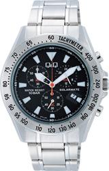 【CITIZEN】シチズン Q&Q ソーラー電源搭載 クロノグラフ メンズ腕時計H022-202 /1点入り(代引き不可)