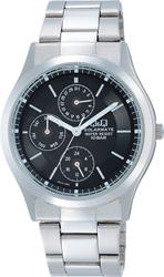 【CITIZEN】シチズン Q&Q ソーラー電源搭載マルチハンズ メンズ腕時計H014-202 /5点入り(代引き不可)