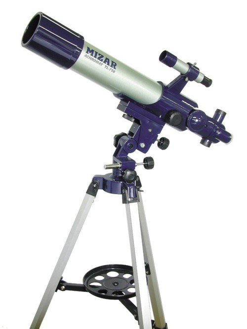 【MIZAR-TEC】ミザールテック 天体望遠鏡TL-750 屈折式 口径70mm 焦点距離500mm /2点入り(代引き不可)