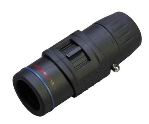 【MIZAR-TEC】ミザールテック 単眼鏡 7倍18口径 小型タイプ ケース付き MD-718ブラック /20点入り(代引き不可)