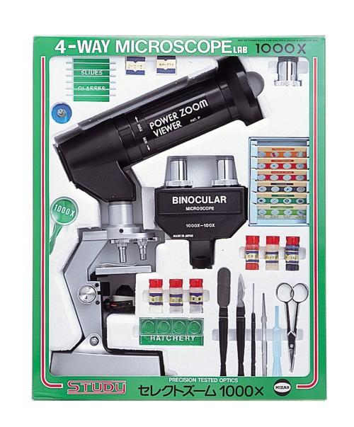 【MIZAR-TEC】ミザールテック 学習顕微鏡セレクトズーム1000 100~1000倍(日本製) /5点入り(代引き不可)