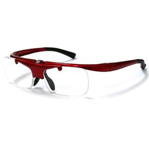リーディンググラス DR-003 レッド  跳ね上げ式老眼鏡 レッド/度数+2.0/6点入り(代引き不可)【送料無料】
