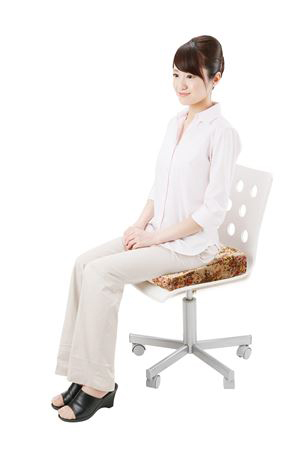 楽に座る!骨盤姿勢クッション ブラウン/16点入り(代引き不可)【送料無料】【S1】