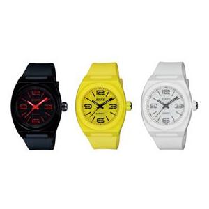 【RISNY】リスニー 電子マネー搭載腕時計 [男女兼用] アナログ表示 日常生活用防水 /5点入り(レモンイエロー)(代引き不可)【送料無料】