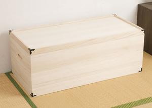 桐衣装箱 1段 深型 HI-0005 日本製 完成品【送料無料】