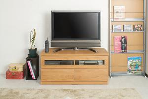 天然木テレビボード 101cm幅 ナチュラル色【送料無料】【日本製】【完成品】