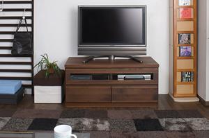 天然木テレビボード 101cm幅 ダークブラウン色【送料無料】【日本製】【完成品】