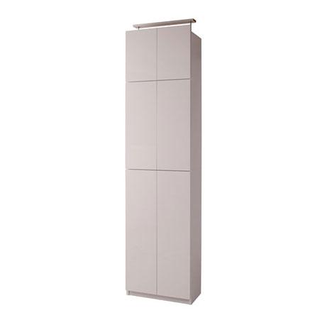 壁面収納 扉タイプ 60cm幅 ホワイト色【送料無料】