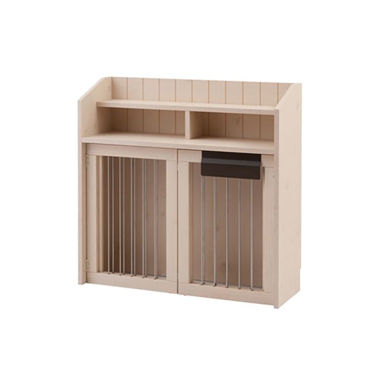 カウンター下収納90幅 折り畳み式ペットケージ(代引不可)【送料無料】