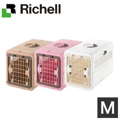 送料無料 Richell リッチェル キャンピングキャリー折りたたみM 小型犬 猫 ブラウン P ピンク BR ペット用 出群 アウトレット