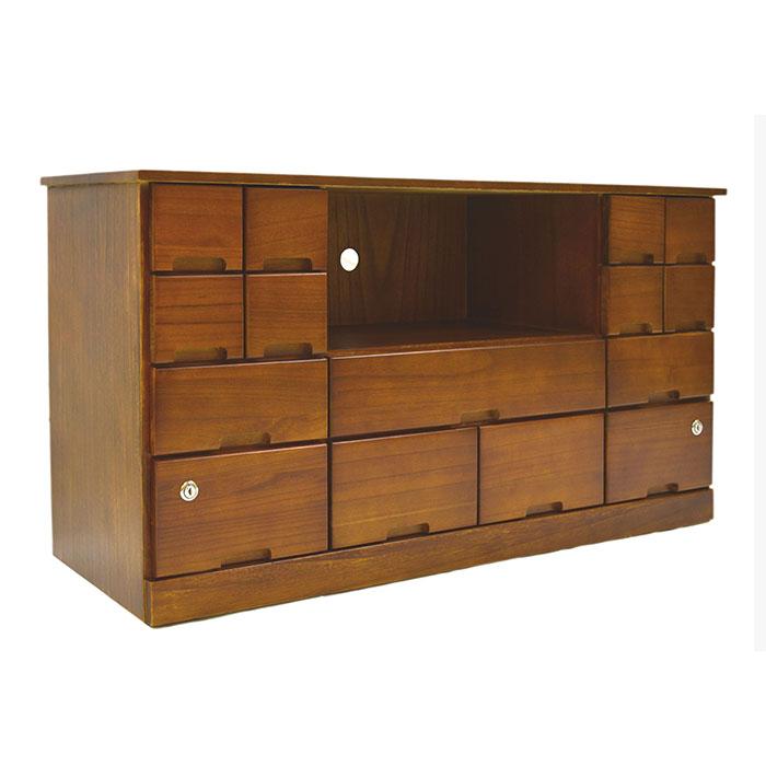 天然木 シークレットテレビ台 ハイタイプ 鍵付 収納ボックス 棚 収納 シークレット おしゃれ 落ち着いている チェスト ボックス(代引不可)【送料無料】