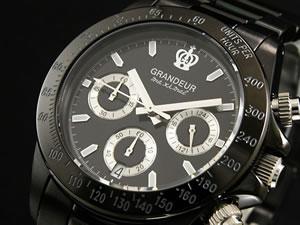 グランドール GRANDEUR 腕時計 時計 クロノグラフ メンズ OSC031W1