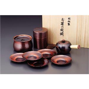 食楽工房 急須・茶筒・建水・茶托セット(代引不可)