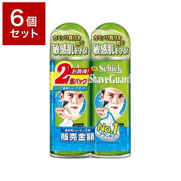 倉庫 送料無料 6個セット シック ジャパン ◆在庫限り◆ 薬用シェーブガードSフォーム200gWパック