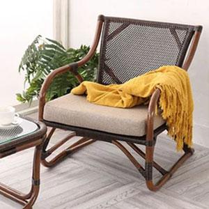ラタン パーソナルチェア WAHOO シリーズ C201KA 家具 籐家具 インテリア イス 椅子 腰かけ チェア 一人掛け 1人掛け (代引不可)【送料無料】