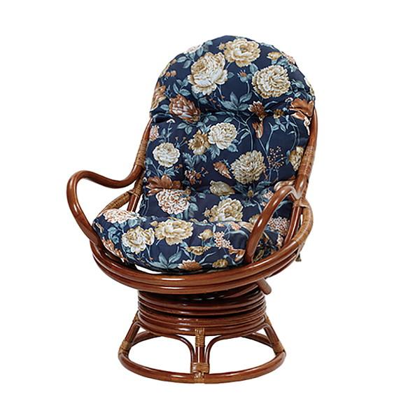 アジアン風 チェア 回転チェア 椅子 座椅子 ダイニング リビング(代引不可)【送料無料】