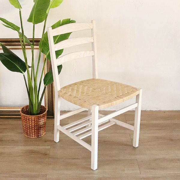 チャーチチェア ダイニングチェア チーク 椅子 いす パーソナル チーク無垢 天然木製 籐 おしゃれ ナチュラル 北欧 カフェ(代引不可)【送料無料】