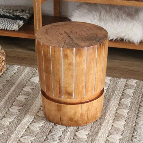 スツール 木製 カジュアル チェア 椅子 イス ハワイアン アジアン 南国 リゾート アジアン家具 無垢 おしゃれ(代引不可)【送料無料】