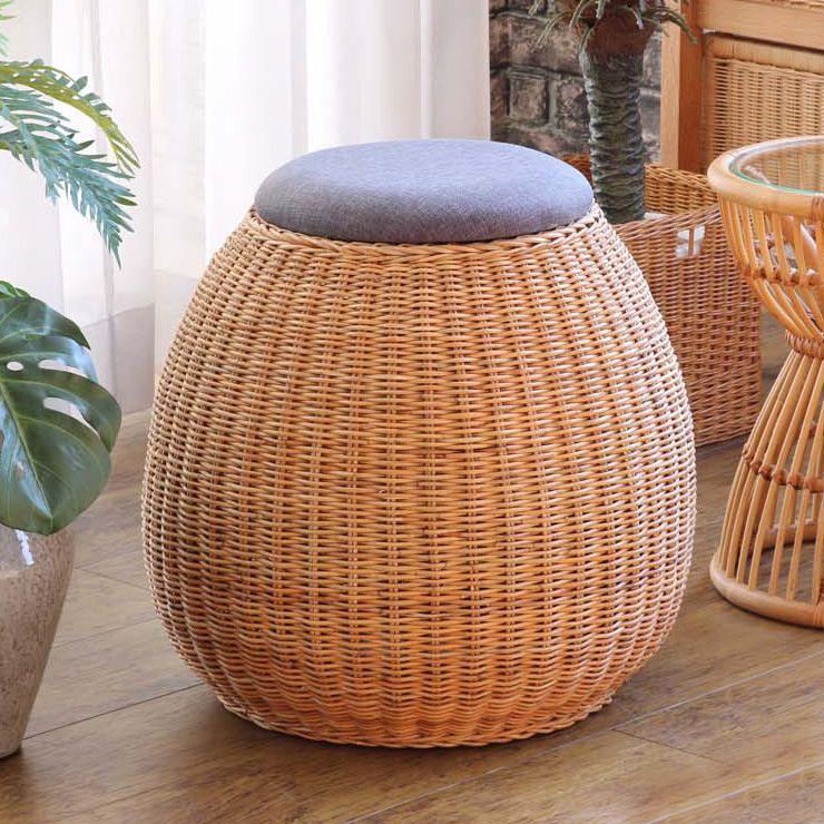 スツール 腰掛け チェア イス 収納 玄関 チェア 椅子 籐家具 ラタン 和風(代引不可)【送料無料】