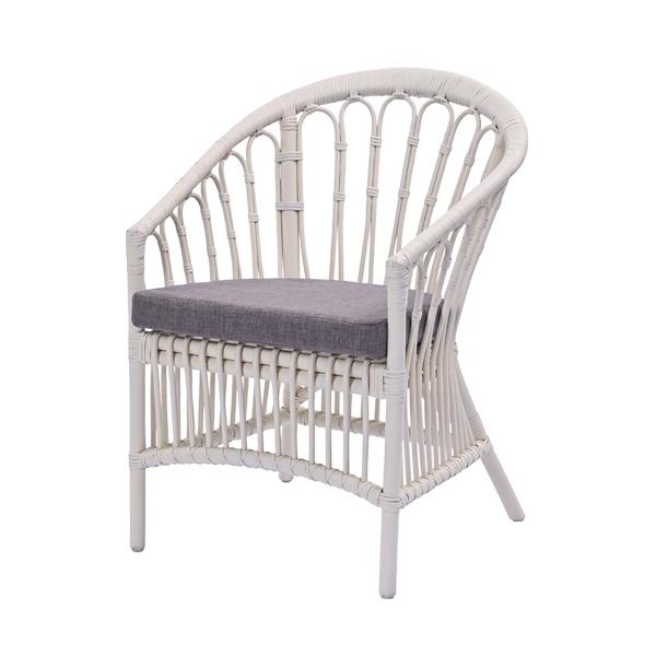 パーソナルチェア ライトグレー 椅子 リビングチェア イージーチェア(代引不可)【送料無料】