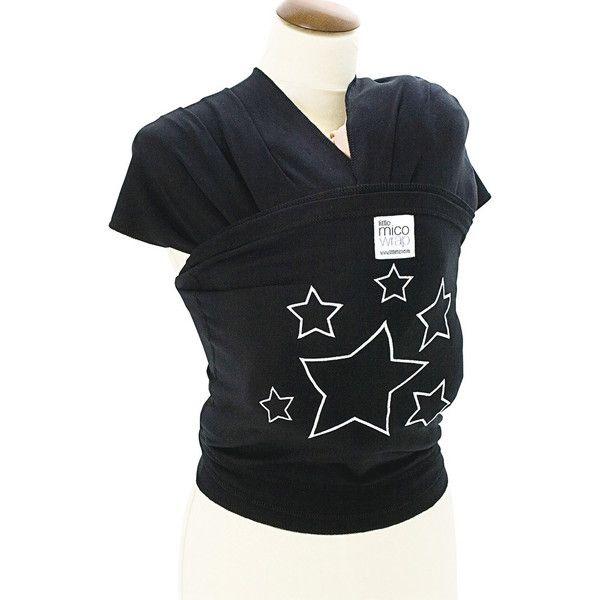 リトルミコ LITTLE MICO WRAP BLACK W/SILVER STARS(代引不可)【送料無料】