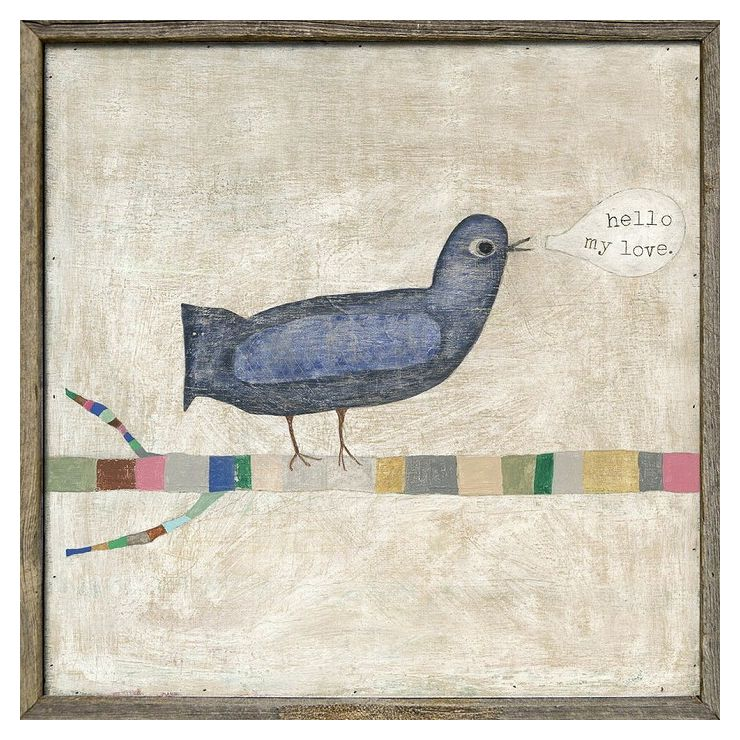 Hello,My Love(bird) SUGARBOO AP246-23x23inch(代引不可)【送料無料】