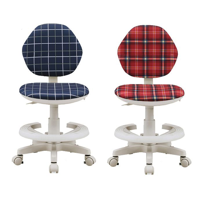 学習チェア ジャンプ5 チェック柄 レッド ネイビー イス 学習椅子 勉強椅子 勉強チェア 学習チェアー (代引不可)【送料無料】