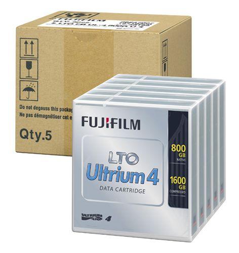 <LTOテープ>富士フイルムコンピューターメディア( LTO Ultrium 4 / 非圧縮時800GB・圧縮時1600GB 5巻パック品 ) LTO FB UL-4 800G UX5(代引き不可)