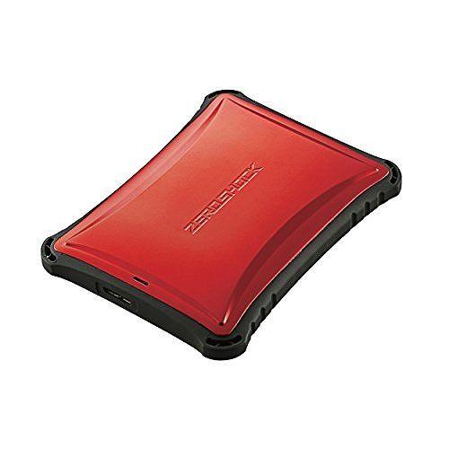 エレコム ELECOM Portable Drive USB3.0 1TB Red ZEROSHOCK ELP-ZS010URD(代引不可)