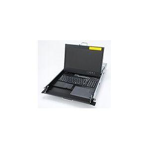 富士通コンポーネント フルHD&DVI対応1Uドロワー 8ポートDVI KVMスイッチ内蔵 PCサーバ対応 白モデル FD-6008DVI/JW(代引不可)