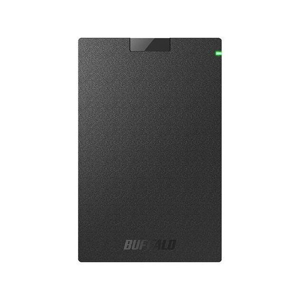 バッファロー USB3.1(Gen.1)対応 ポータブルHDD スタンダードモデル ブラック 2TB HD-PCG2.0U3-GBA(代引不可)