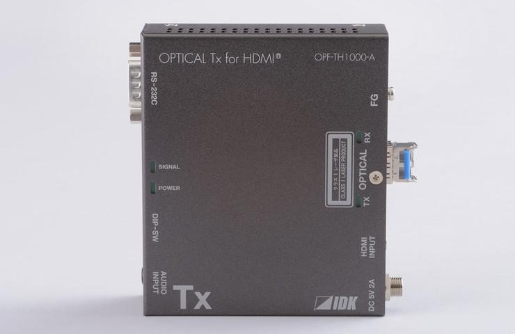 アイ・ディ・ケイ HDMI光ファイバケーブル送信器(シングルモードファイバー) OPF-TH1000-A-SM(代引不可)