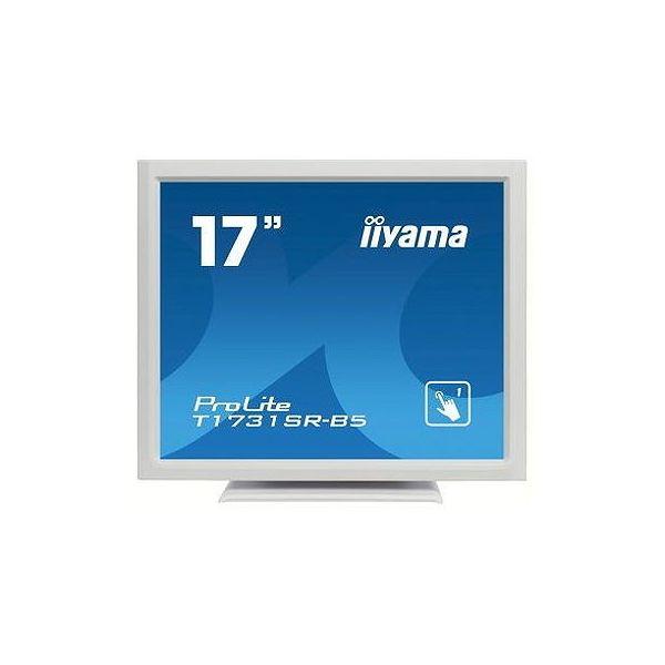 1280x1024 D-Sub15Pin HDMI DisplayPort スピーカー LED アンチグレア TNパネル 抵抗膜方式 人気ブランド T1731SR-W5 ピュアホワイト タッチパネル 液晶ディスプレイ イーヤマ マーケティング スクエア 17インチ 代引不可