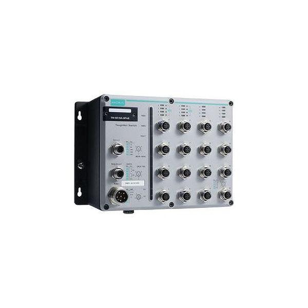 MOXA EN50155認証 16ポートイーサネット 8PoEスイッチ Tモデル コンフォーマルコーティング TN-5516A-8POE-WV-CT-T()