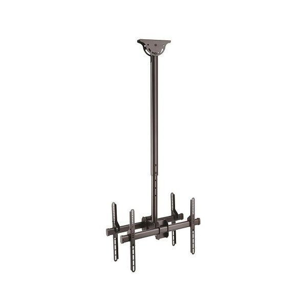 液晶テレビ天吊り金具 両面タイプ ツインディスプレイハンガー 天井からの高さを自由に変更 32-75インチTV対応 FPCEILBTB(代引不可)