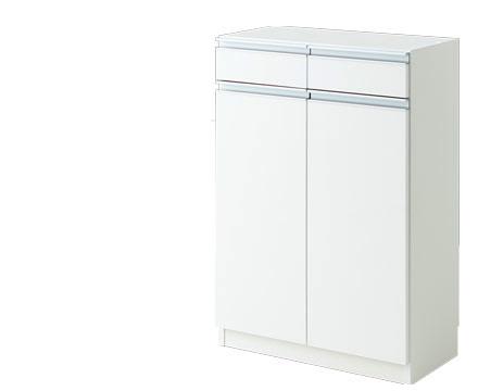 キッチンカウンター 収納 カウンター下収納 エール60H WH(代引き不可)【送料無料】