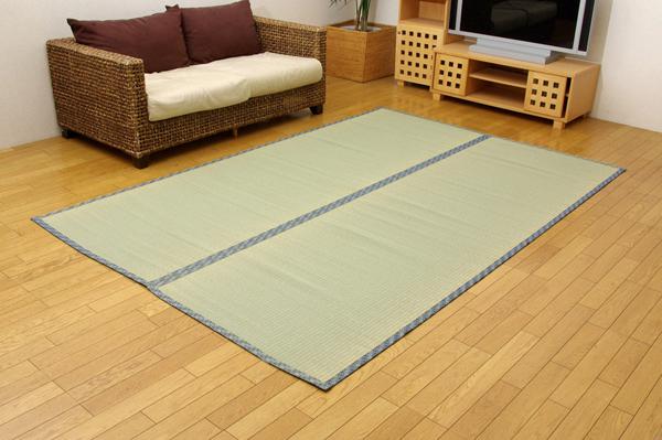 純国産 糸引織 い草上敷 『きぬがわ』 三六間 8畳(約364×364cm)(代引き不可)