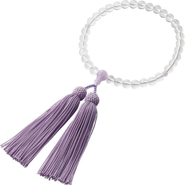 藤雲石入り水晶念珠 装身具 アクセサリー ブレスレット 1504KC015(代引不可)【送料無料】