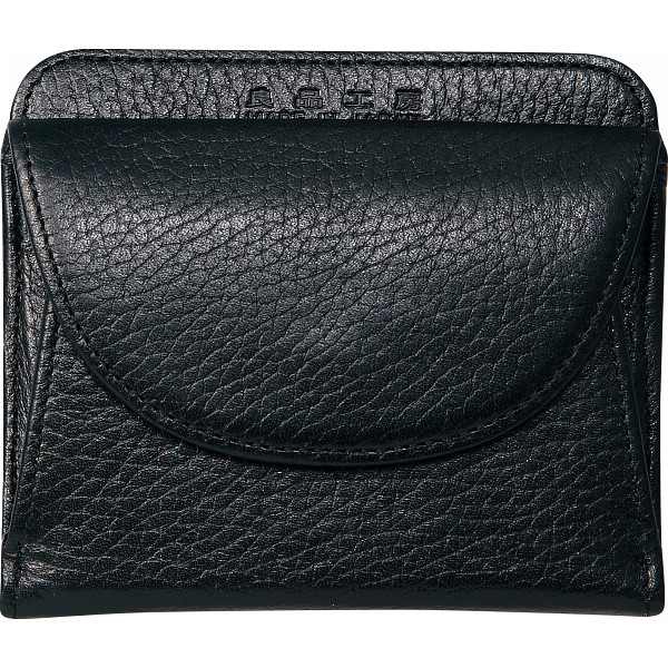 良品工房 日本製 牛革二つ折財布 ブラック 良品工房 カバン 財布 札入れ B0110-201B(代引不可)【送料無料】