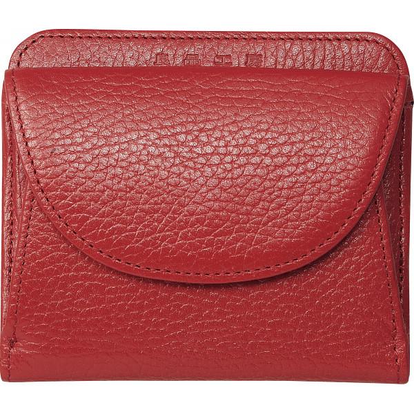 良品工房 日本製 牛革二つ折財布 レッド カバン 財布 札入れ B0110-201RE(代引不可)【送料無料】