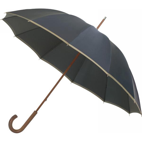 日本の職人手作り 甲州織手開き 長傘12本骨 ネイビー×グレー 日本の職人手作り 雨具 長傘 紳士長傘 HM200AG(代引不可)【送料無料】