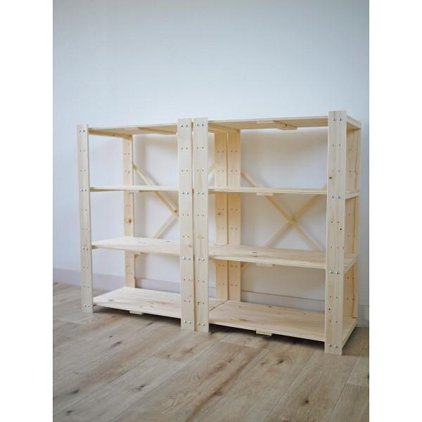 木製ラック4段2個組 ナチュラル 木製品 家具 書斎 リビング家具 ラック TNMR-8760N-2P(代引不可)【送料無料】
