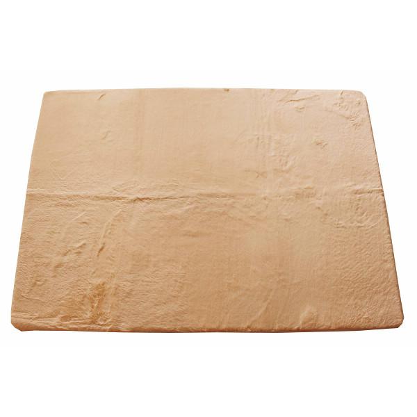 ラビットファー風マイクロファイバーラグ(185×240) ブラウン 室内繊維 マット カ-ペット センタ-ラグ PG032(代引不可)【送料無料】